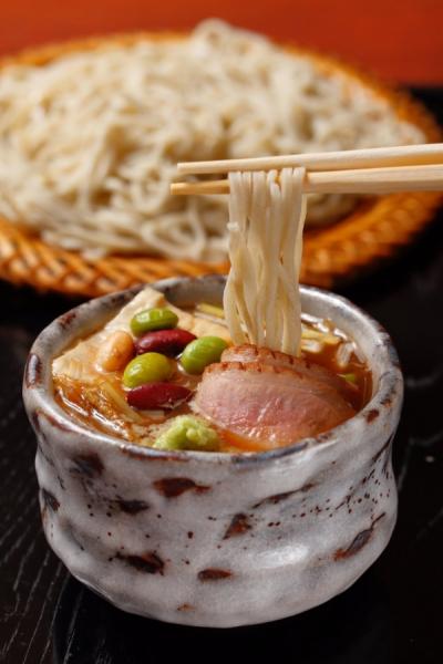 秋錦鴨汁ざる蕎麦